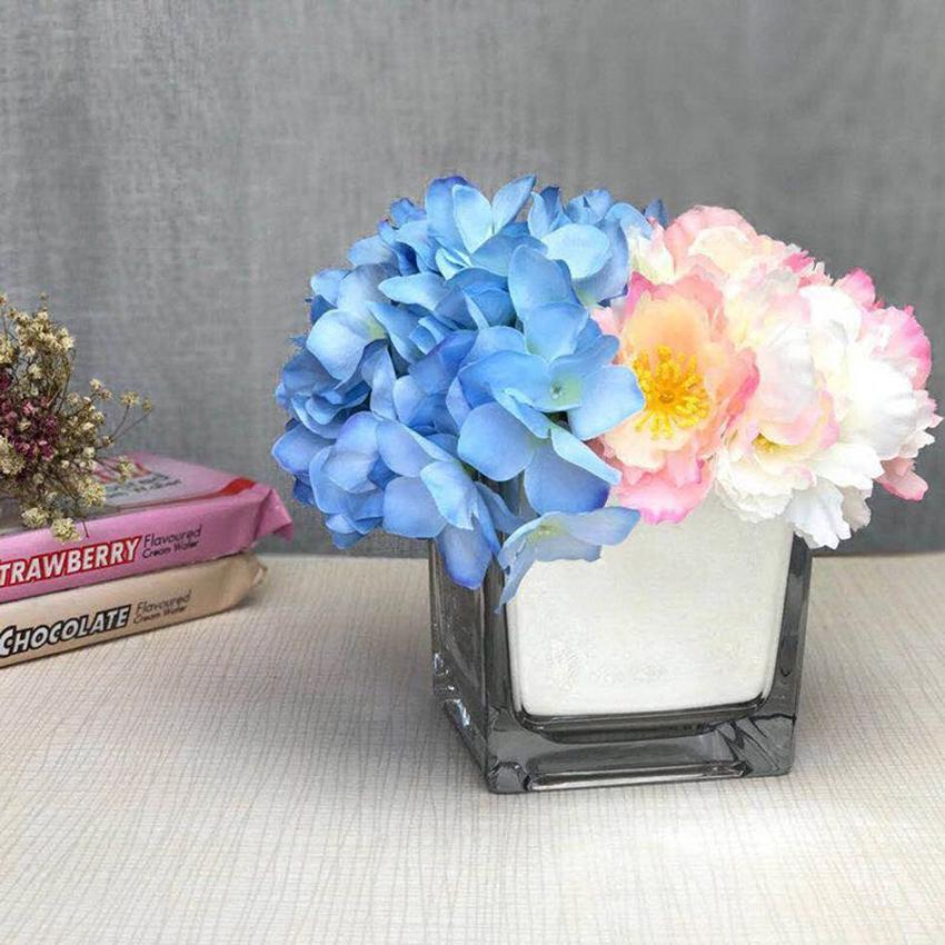 European Modern Tabletop Glass Vase Terrarium Plant Flower Pot Vase