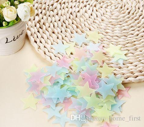 Environmental Colorful Stars Luminous Fluorescent Wall Stickers Decal Glow In The Dark Kids Bedroom Home Decor