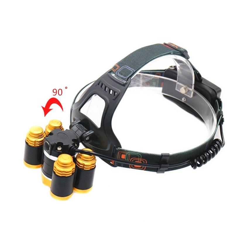 15000Lm LED Head Lamp Light XML T6+4R5 Headlamp Rechargeable 18650 Head Flashlight Torch Camping Fishing Hunting Lantern