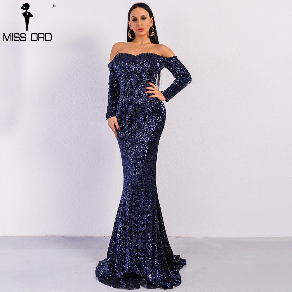 e883302c21e3 Missord 2018 Sexy BRA Long Sleeve Off Shoulder Sequin Backless Dresses  Women Skinny Maxi Party Elegant Dress FT8714 Y1891107 Plus Size Dresses  Formal ...