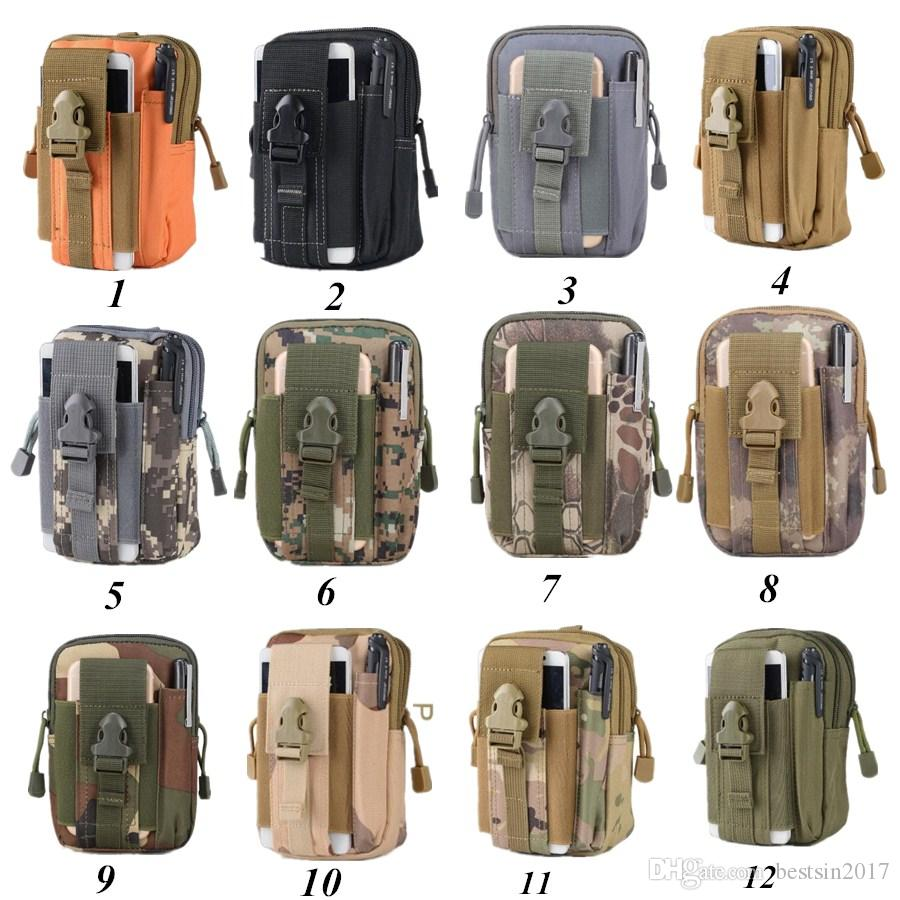 Outdoor Tactical Holster Military Molle Hip Waist Belt Bag Wallet Pouch Purse Zipper Phone Case for RugGear With Opp package