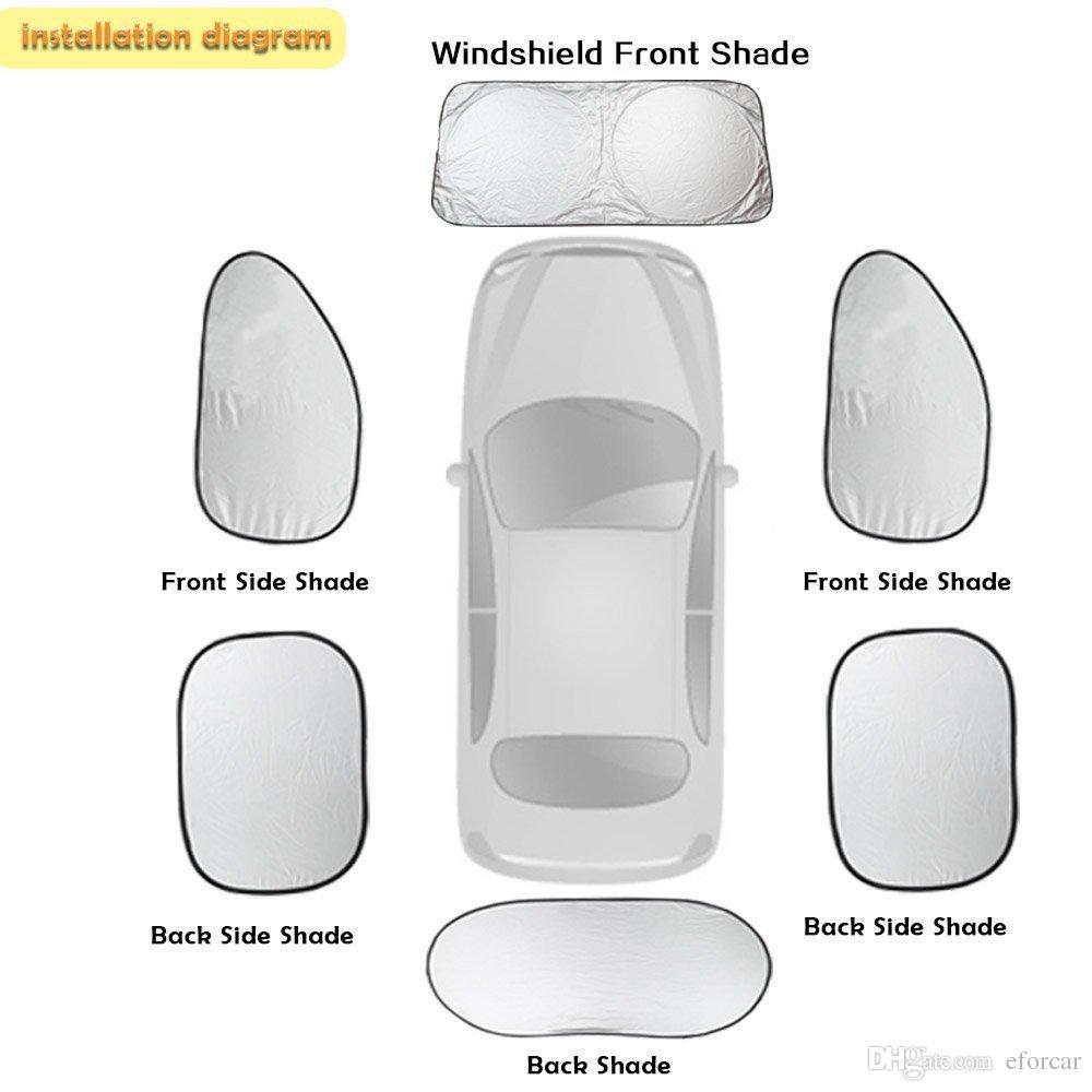 6 قطعة / المجموعة سيارة الشمس الظل الشاشة سيارة كاملة الجبهة الجانب الخلفي النافذة ظلة الستار الزجاج الأمامي ظلال قناع الغلاف الشمس كتلة