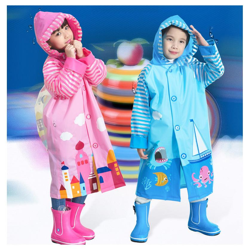 fa978429c 2019 Fashion PVC Cartoon Waterproof Rainsuit Cute Baby Poncho Child ...