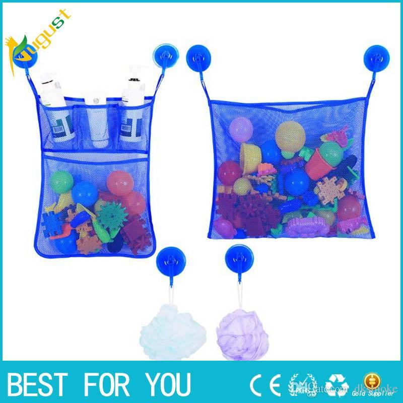 2 Mesh Bath Toy Organizer + 6 Ultra Strong Hooks Baby Bath Bathtub ...