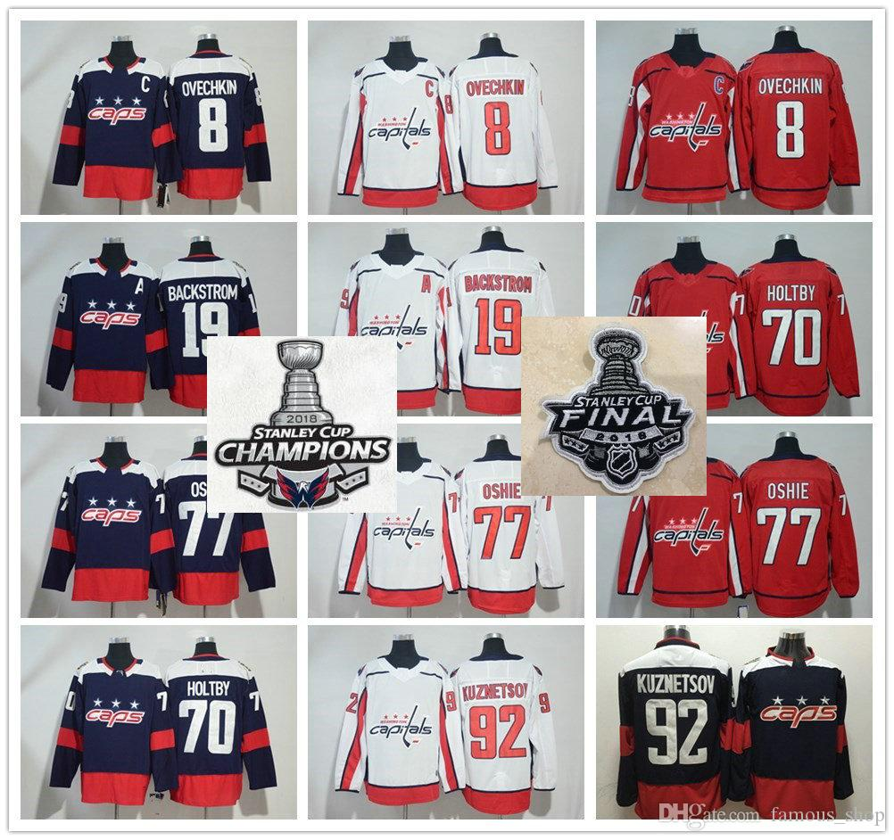3bf73138b 2018 Stanley Cup Champion Washington Capitals 8 Alex Ovechkin 43 Tom ...