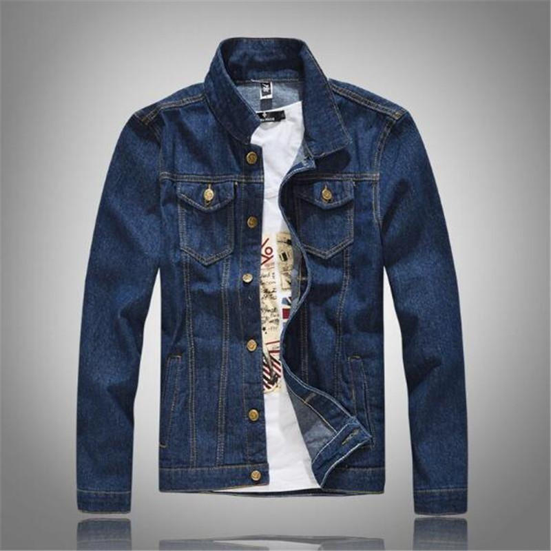 2018 men's spring and autumn new style slim motorcycle blue cowboy jacket Korean style casual fashion jacket