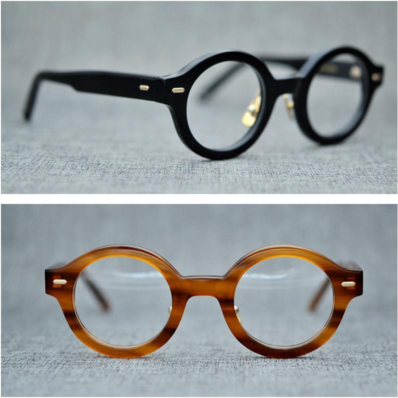 20a61f5974 2019 Vazrobe Acetate Glasses Men Women Small Round Eyeglasses Frames Man  Female Vintage Tortoise Eyeglass Prescription Myopia Diopter From Hilaryw