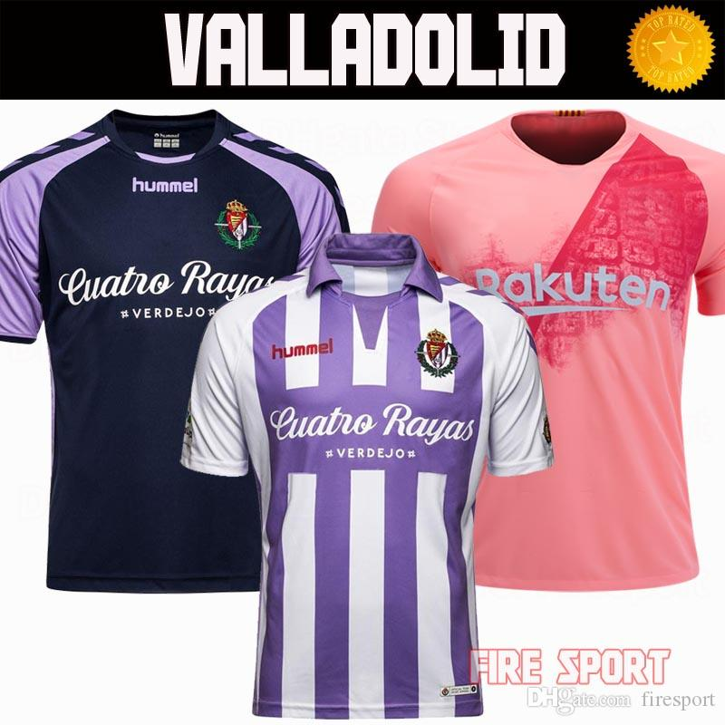2018 19 España LIGA Real Valladolid Home Away Soocer Camisetas 2018 2019  Valladolid Camisetas De Fútbol Camisetas De Jaime Mata Michel Guitan  Hervias Por ... 1341e2ee53e5a