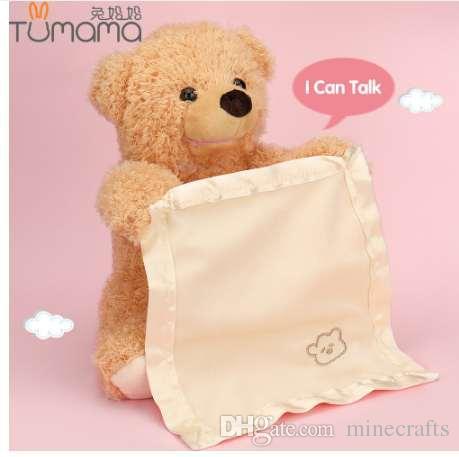 2018 Tumama Teddy Bear Talking Plush Toys 30cm Hide And Seek
