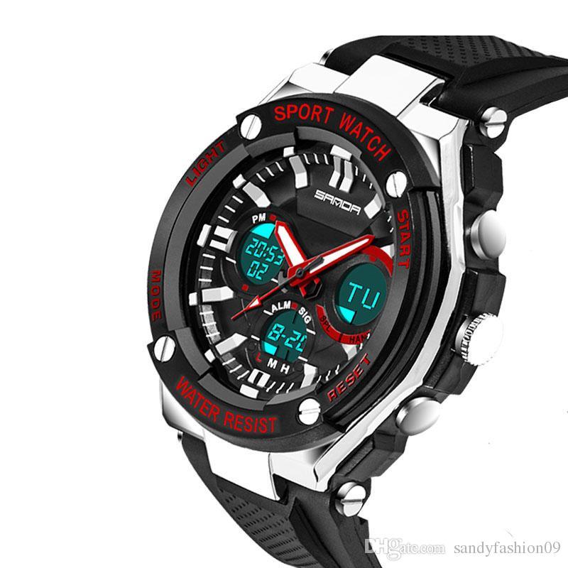 Compre Relojes Deportivos Impermeables Para Hombre Relogio Masculino Reloj  Deportivo De Silicona Para Hombres Relojes De Pulsera Electrónicos A Prueba  De ... b5738af495a7