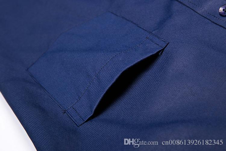 2018 реальная картина 100% хлопок Мужские Рубашки С Длинным Рукавом Мужская Рубашка b0ss Марка Одежды Camisa Социальные Masculina Повседневная Сорочка