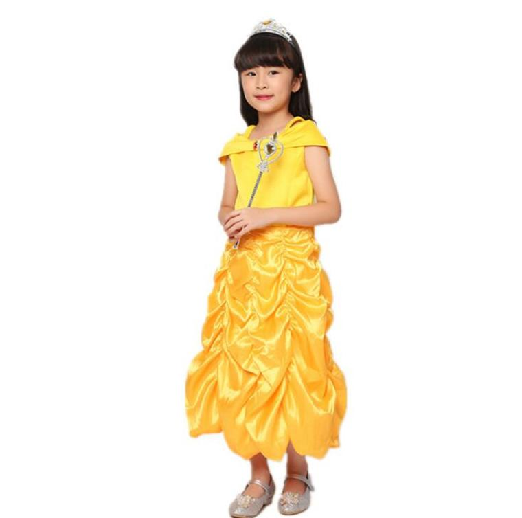 801639c9e3 Beautiful And The Best Costumes Princess Dresses Kids Fancy Cosplay  Halloween Costumes For Girls Yellow Princess Party Dress Costumes For Large  Groups Team ...