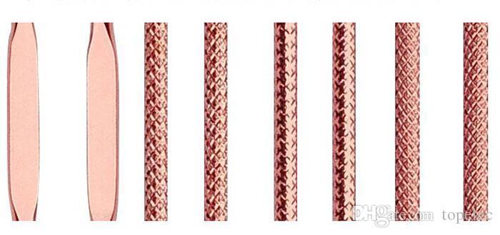 Oro rosa di alta qualità 4pcs Set Strumento di rimozione di comedone di comedone nero Kit di strumento di rimozione di brufolo dell'acne Blemish Make Up Strumento di bellezza