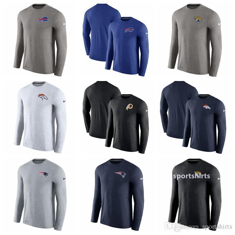 Men Women Buffalo Bills Denver Broncos Shirt Jacksonville Jaguars Patriots  Washington Redskins Coaches Ouch Long Sleeve Performance T-Shirt New Shorts  New ... 6e9951cf94