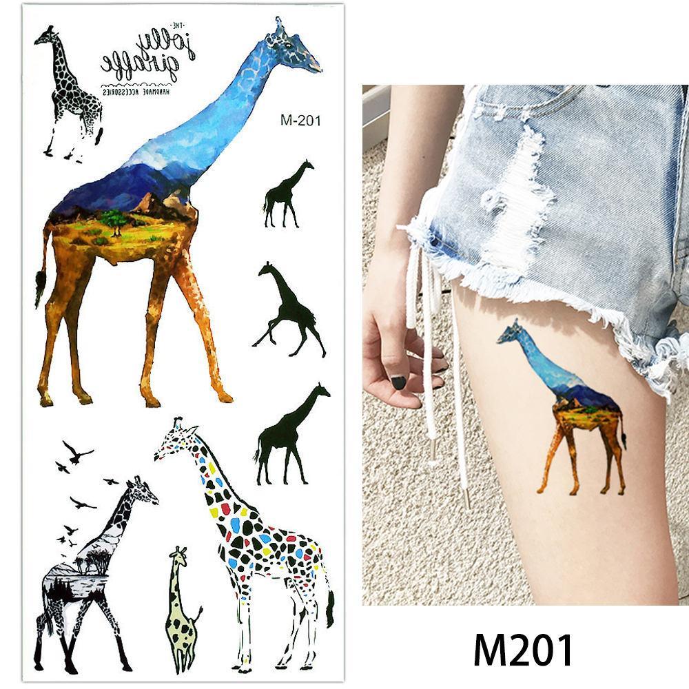 glaryyears 1 Sheet Fake Black Animal Temporary Tattoo Sticker Body Hand Makeup Fashion Art Tattoo Tiger Eagle Owl Decal 2018 New