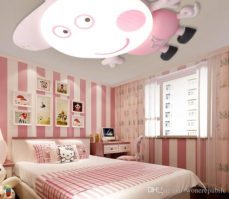 2018 45 Boy Girl Bedroom Ceiling Light Creative Personality Pig Pig ...