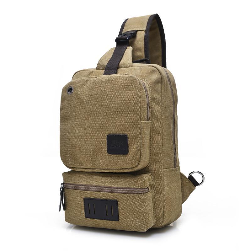 f9324b0b52 Fashion Canvas Crossbody Bags For Men Women Large Casual Shoulder Sling Bag  Men Solid Color Leisure Messenger Chest Bag 1262 Cheap Designer Handbags  Black ...