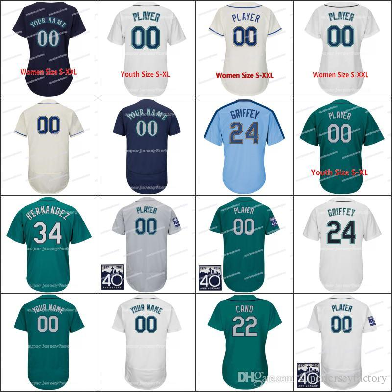 women youth 51 ichirosuzuki 5 guillermo heredia 23 nelson cruz baseball jerseys 24 kengriffeyjr. jerseys 9 dee gordon jerseys 17 mitch haniger jerseys