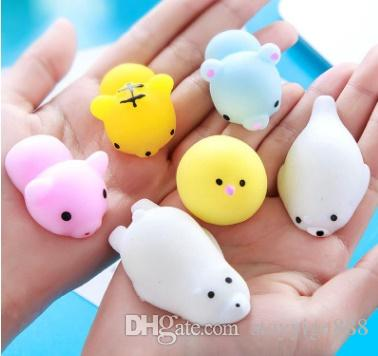 Popular Brand Mini Cat Squishy Slow Rising Kawaii Mochi Bunny Bag Accessories Strap Squeeze Stretchy Cute Pendant Kids Toy Gift Luggage & Bags
