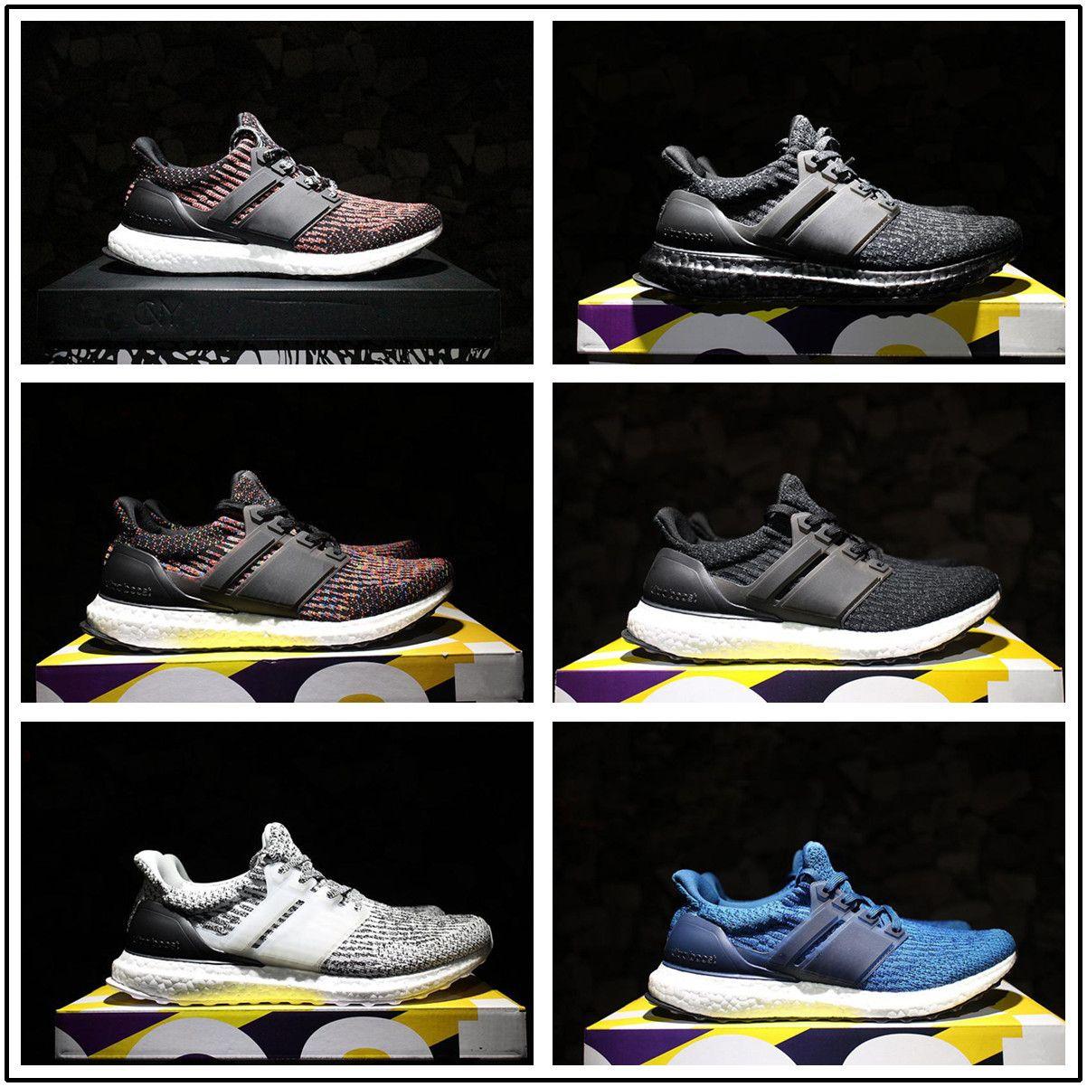 cheap for discount e6c85 2ea62 Compre Adidas Ultra Boost 3.0 2017 Nuevo Ultraboost 3.0 Zapatos Corrientes  Hombres Mujeres Alta Calidad Ultra Boost 3 Iii Blanco Negro Zapatos  Atléticos ...