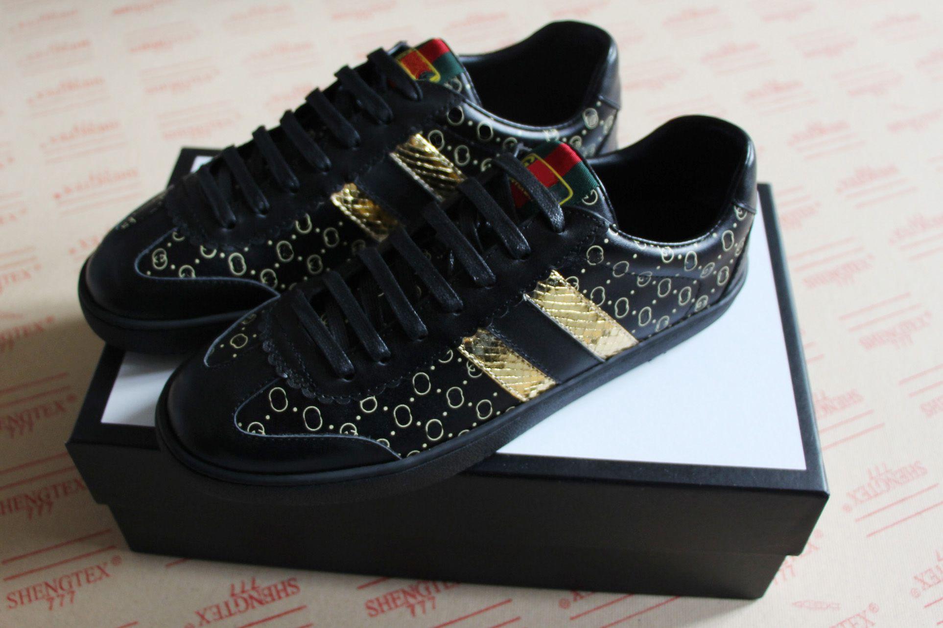 4b61998c2 Compre Novo Homem Sapatos De Grife De Luxo Dapper Moda De Alta Qualidade  Novo Estilo Dan Casual Ace Sneaker Para As Mulheres Tamanho Grande 35 46 De  ...