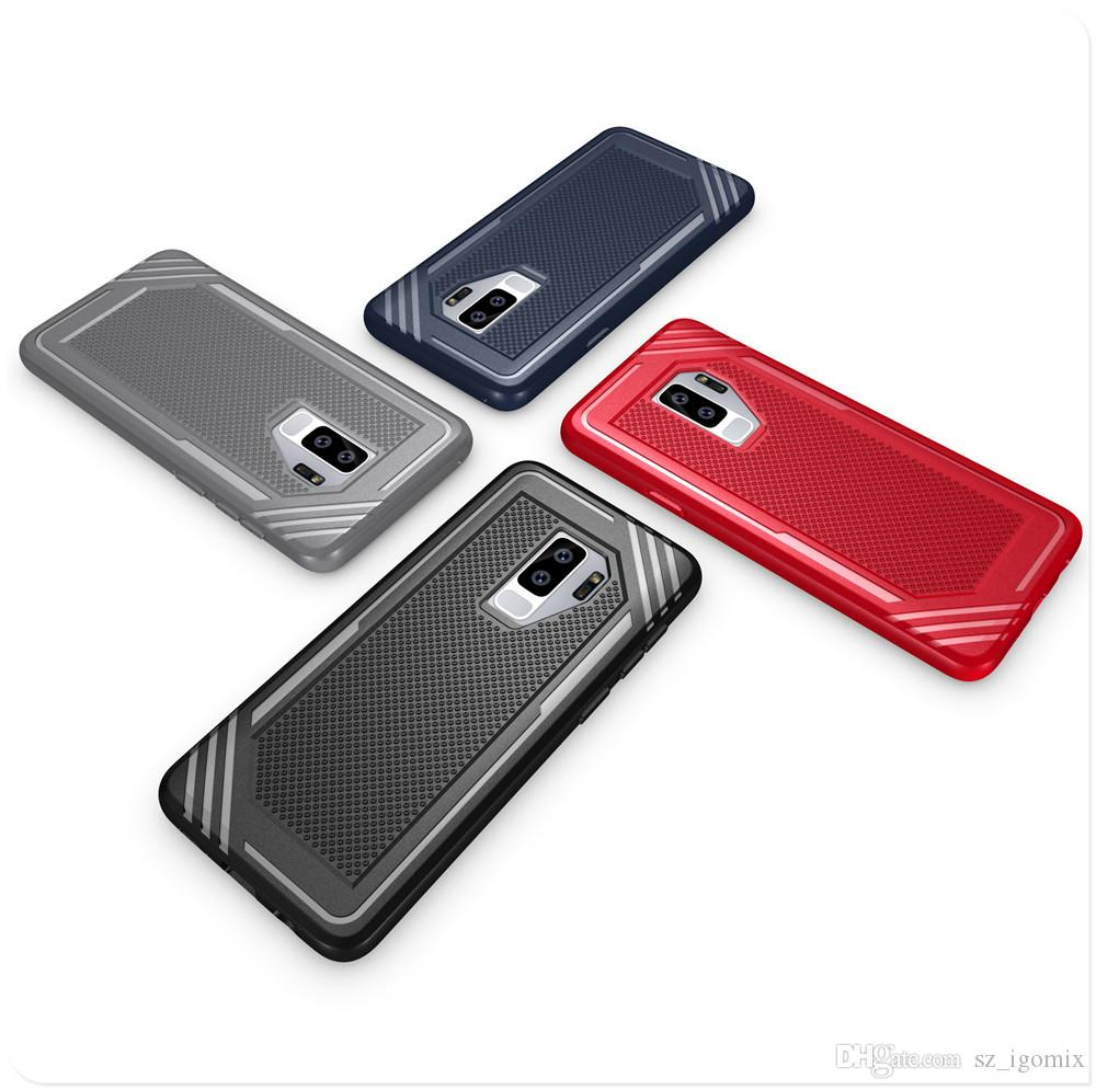 New TPU HYT Phone Case for Samsung Galaxy A7 A5 A8 plus 2018 S9 Plus Black Navy Red Gray Color Back Cover