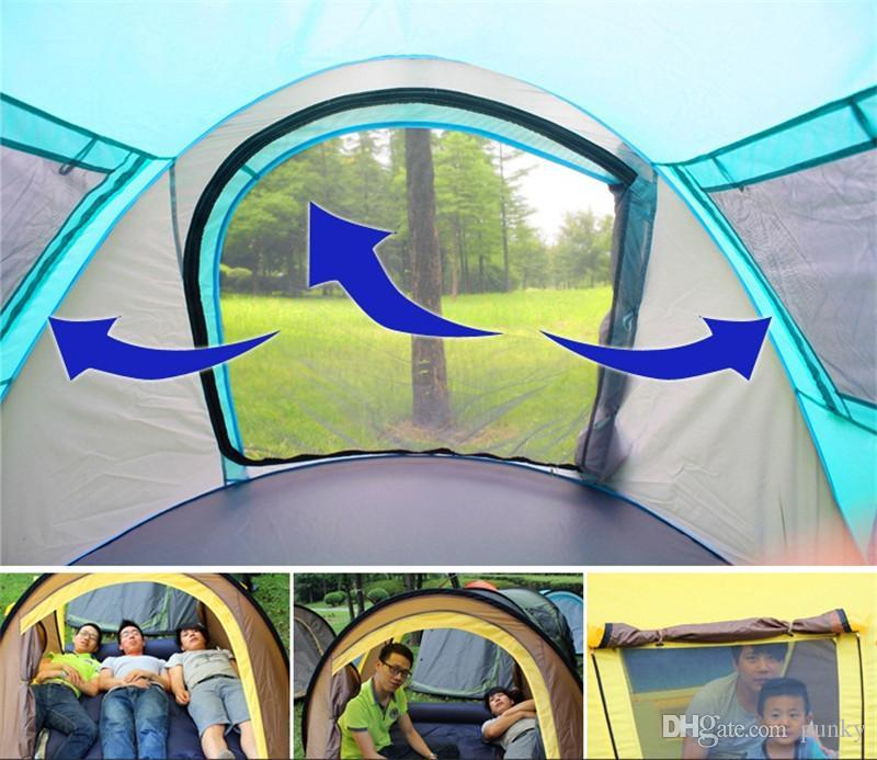 Outdoor Tents Fully automatic Opening Instant Portable Beach Tent Beach Shelter Hiking Camping Family Tents 2-4 Person