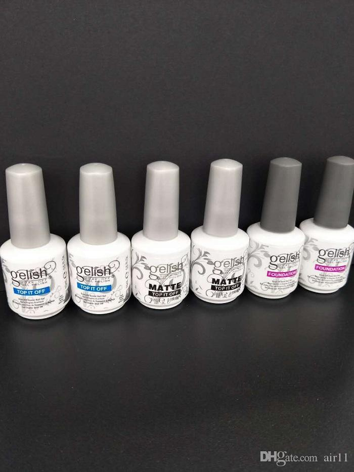 Top Quality Soak Off Nail Gel Polish For Nail Art Gel Lacquer Led/uv Harmony Gelish Base Coat foundation /top it off /matte top it off 3 sty
