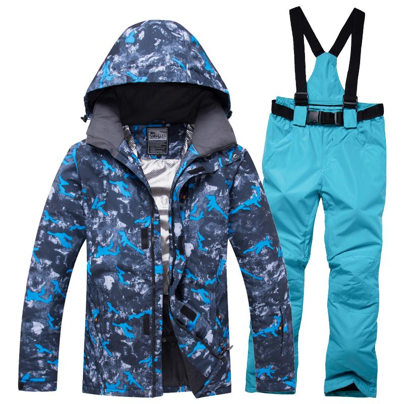 2018 New Warm Snowboarding Suits Men Winter Ski Suit Male Waterproof ... da2afb70e