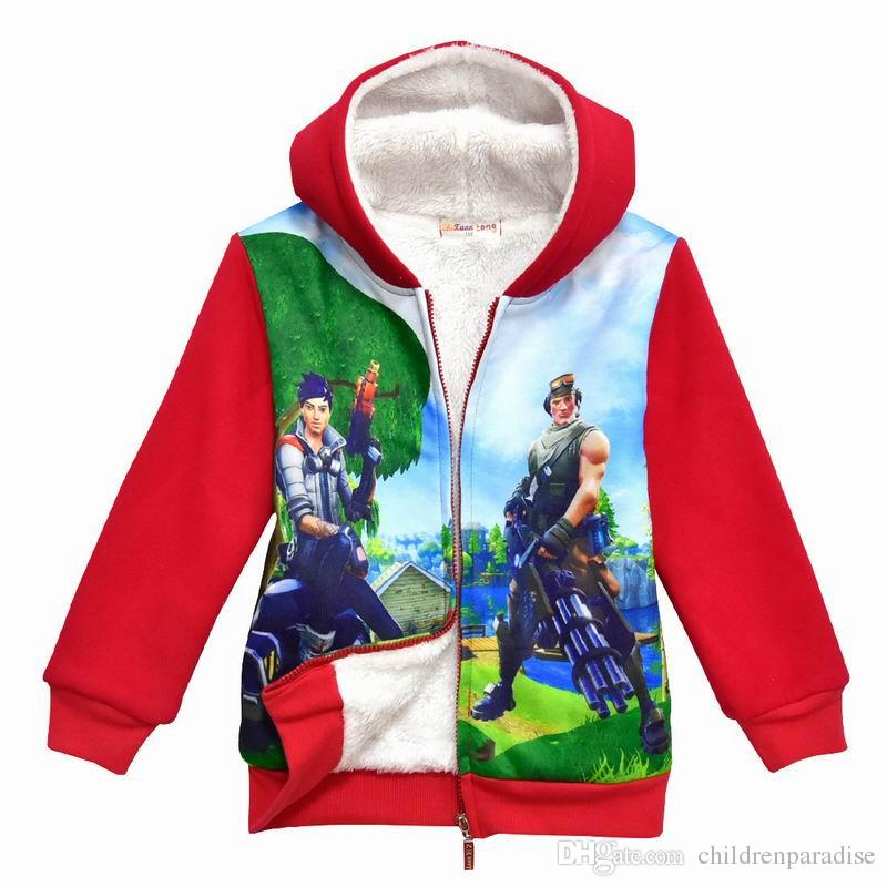 7b0b54a219a7 Cartoon Fortnite Winter Clothes for Children Boys Jackets Boys ...