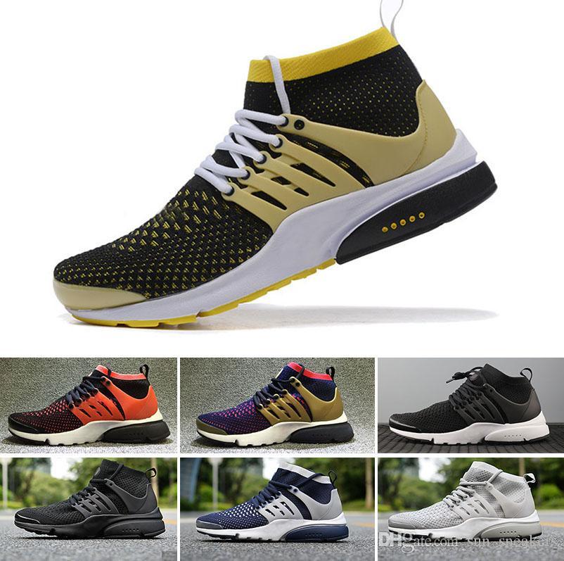 online store c8ef9 46c52 Compre 2018 NIKE Air Presto Flyknit Ultra Calidad Negro Blanco Para Hombre  Mujeres Zapatos Zapatillas De Deporte Mujeres Zapatos Corrientes Hombres  Calzado ...