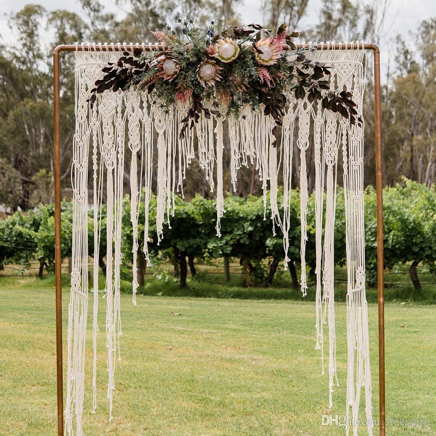Macramae Ideas Wedding Arch: Macrame Wedding Decoration For Reception Boho Fiber