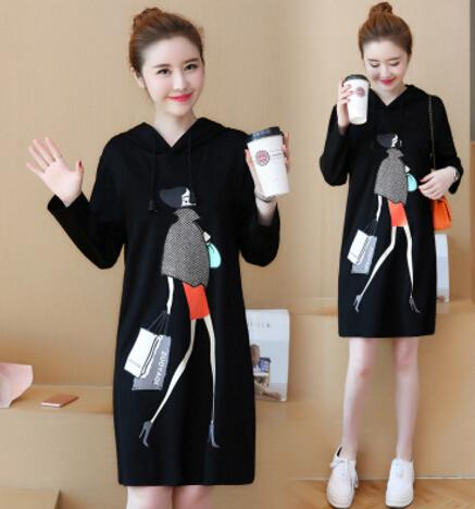 Plus Size Women Spring Dress Casual Big Size Cute Black Thin Dresses