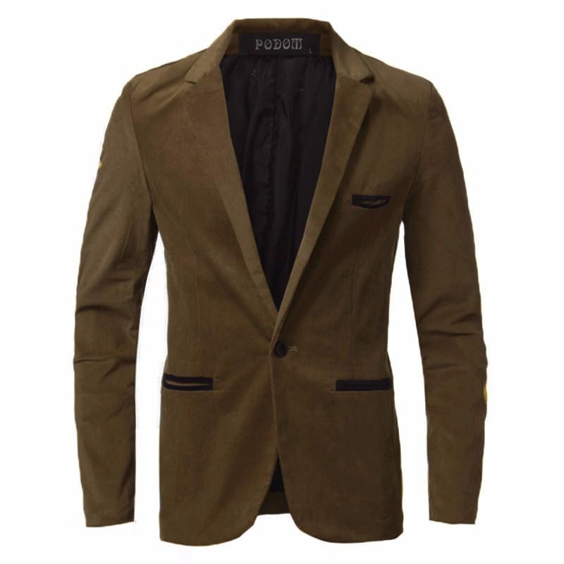 Acheter Podom Nouveau Mode Hommes Blazer Costume Décontracté Veste  D affaires Hommes Manteau Blazers Élégant Blazer Masculino 2018 Hiver  Automne Plus La ... 6a39e9bbaeb