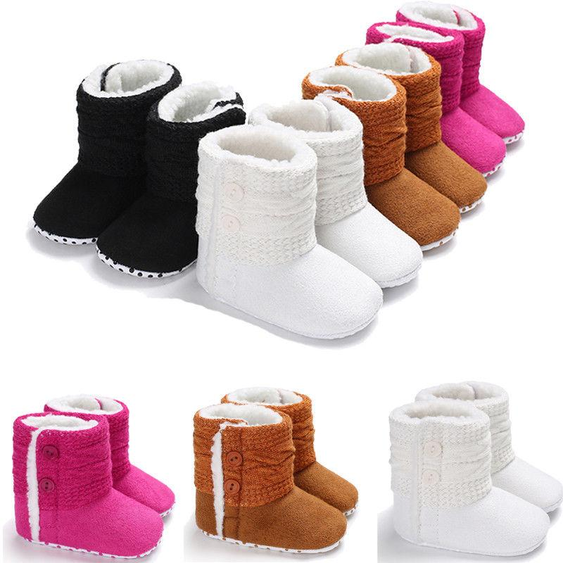 Newborn Infant Baby Girls Boys Winter Boots Causal Shoes 4 Style Cotton Fur  Solid Button Soft Shoes Outfit 0 18M Boots Girls Girls Brown Boots From ... 299ac28b2