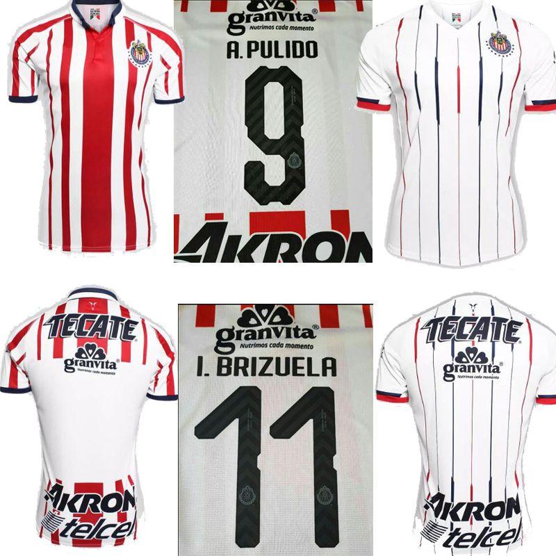 2019 2019 MEXICO Club Chivas De Guadalajara Soccer Jersey 2018 THAI QUALITY  I.BRIZUELA Home Red Third Away White A.Pulido Chivas Football Shirts From  ... 79840a5f0