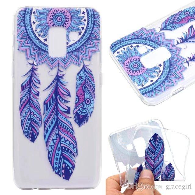 Mandala-Blumen-Fahrrad-Mädchen TPU weicher Fall für Samsung-Galaxie 2018 A7 A5 Huawei Mate10 Pro Lite Y7 2017 Genießen Sie 7 Ehre 7X 5X Fashion Marble Cover
