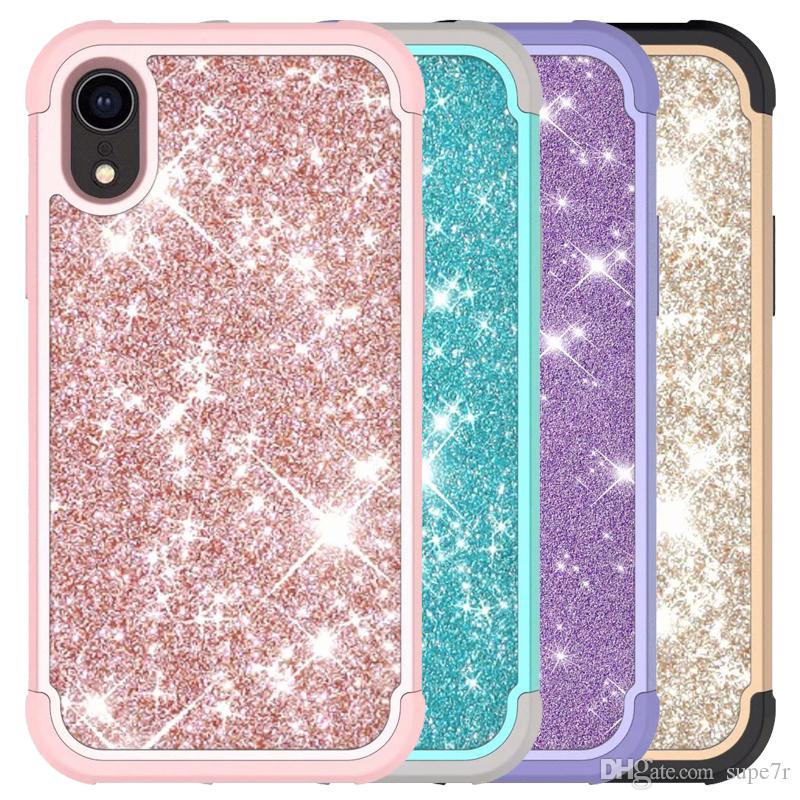 promo code 22ad7 cf813 For Iphone Xr Case Luxury Glitter Diamond Rhinestone Cell Phone Case Iphone  Xs Max Note 9 Back Cover Cases