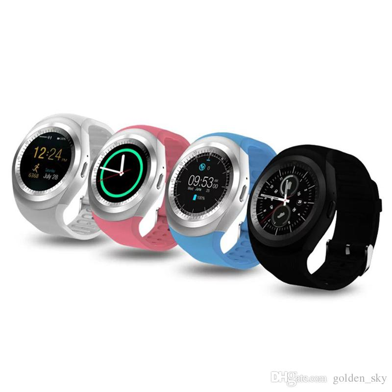 Y1 Smart Watch für Android Smartwatch Samsung Handy Uhren Bluetooth für iPhone mit Retail-Paket