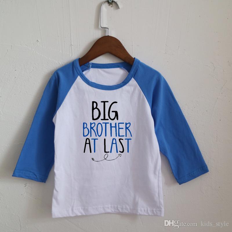 66b08850bc9e Big Brother At Last Toddler Boys Royal Blue Wholesales Raglan Long ...