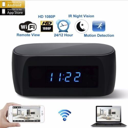 1080P Night Vision Wireless Electronic Clock Camera WIFI IP Remotely Monitor P2P CCTV Cam for Home Security Mini Camera