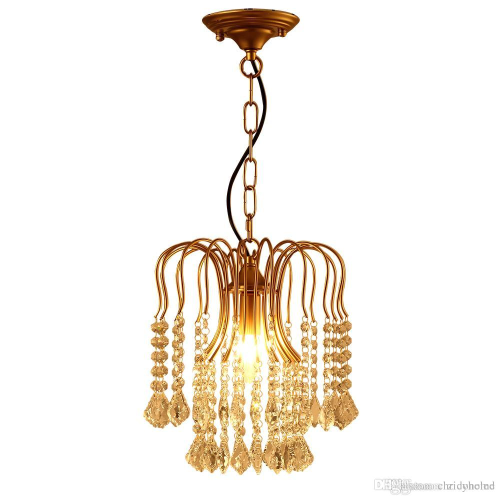 American classical iron crystal chandelier lights k9 crystal pendant lighting fixtures golden chandeliers home decor e14 holder living room chandelier light