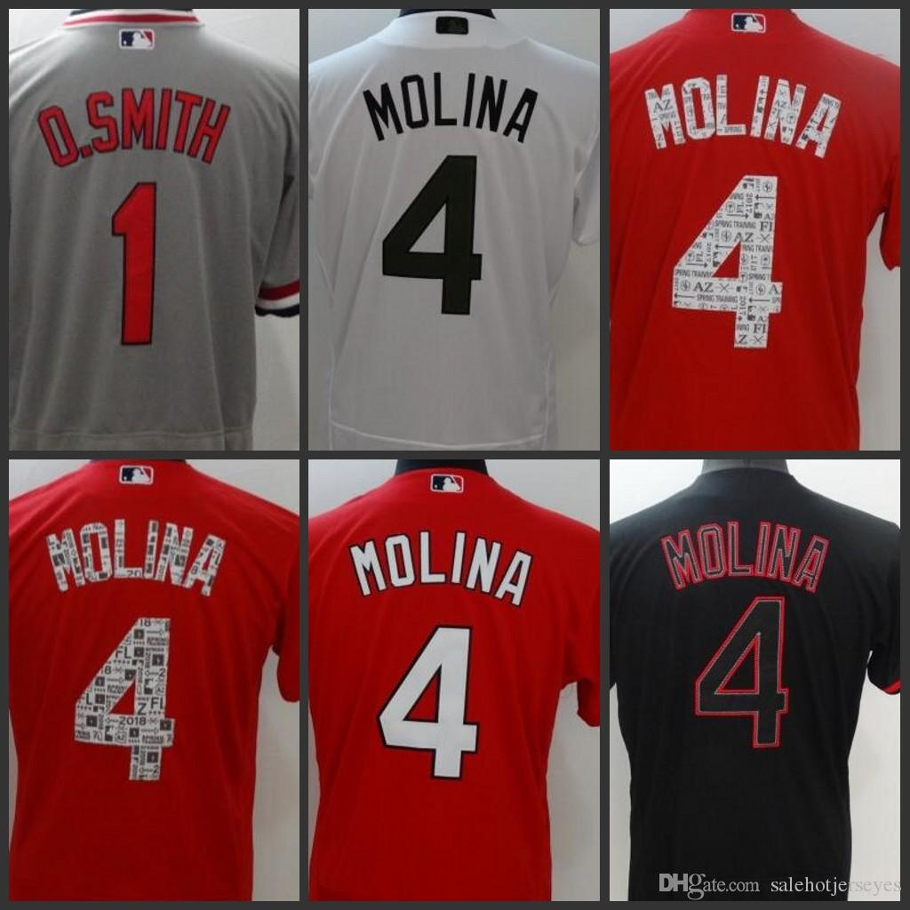 Compre St. Louis Mens Cardeais Camisa 4 Yadier Molina 1 O.Smith Mulheres  Juventude Jérsei Jerseys De Onlinejerseysstore 76bb299aa80a0