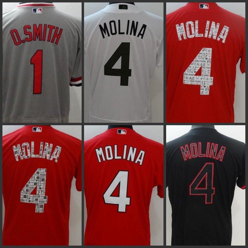 St. Louis Mens Cardinals Jersey 4 Yadier Molina 1 O.Smith Women ... 3dda925e1