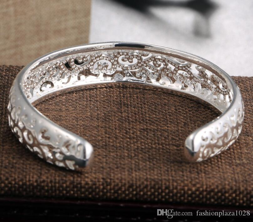 925 silver New Product Charm Handmade Folk Custom Open Adjustable Bangles Antique 925 Silver Bracelets Bangles