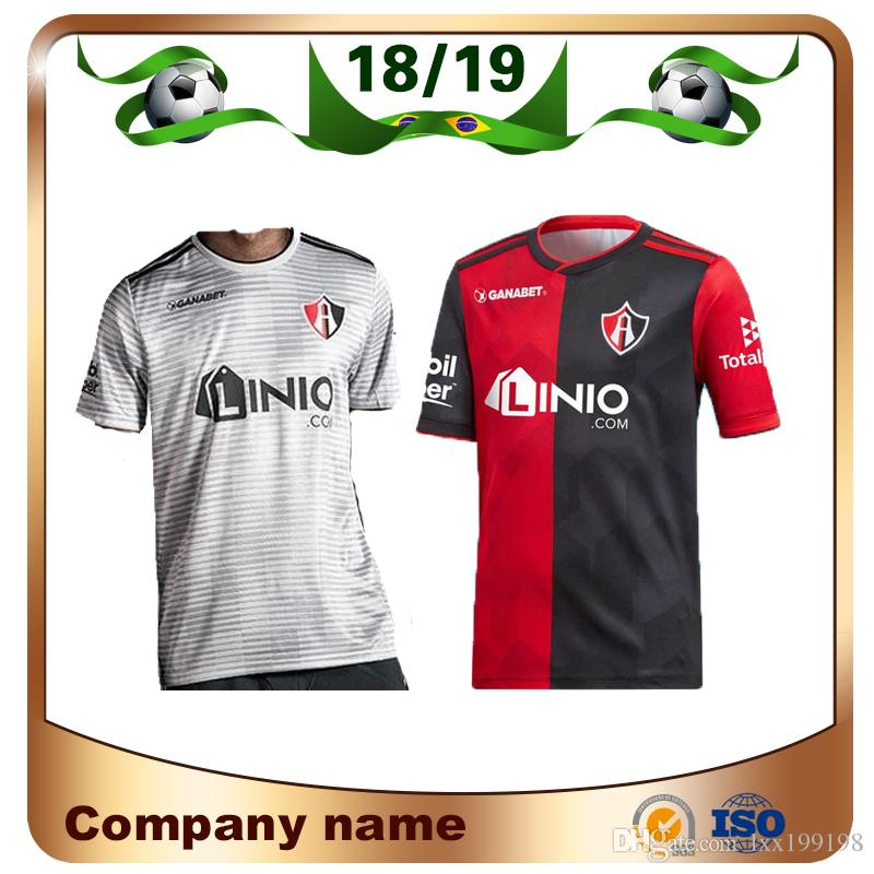 2018 19 Mexico Club Atlas FC Soccer Jersey 2019 Home Red Black Visitante  Camiseta De Fútbol Gris Atlas Football Uniforme De Ventas Por Lxx199198 c4b1fc649390f