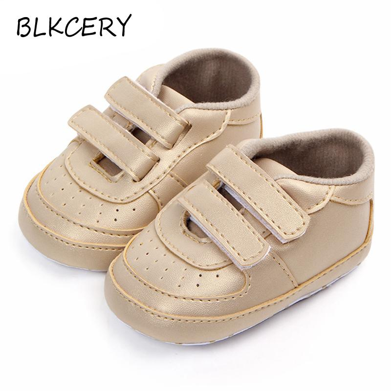 b1a714d54e2df New Born Baby Boys moccasins infant PU Leather first walker Two Strap soft  sole Toddler Sneakers Brand Baby shoes for 0-18 Month