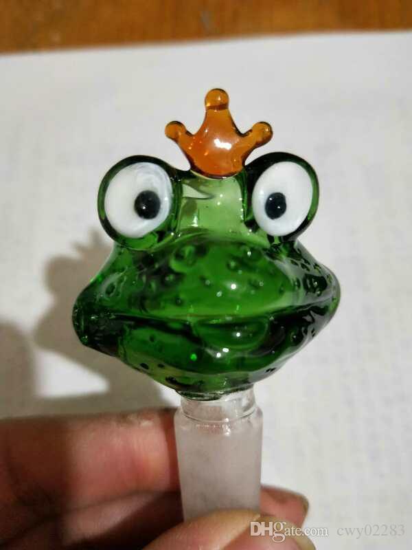 개구리의 만화 버블 헤드, 유리 봉 액세서리 고유 한 오일 버너 유리 파이프 물 파이프 유리 파이프 석유 굴착기 Dropper로 흡연