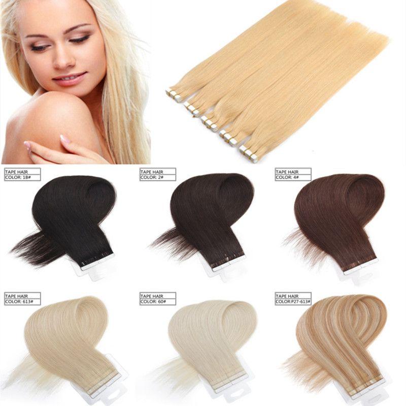 14inch 16inch 18inch 20inch 22inch 24inch Indian Hair Pu Skin Weft