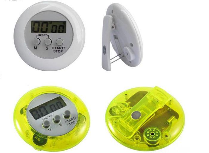 Kitchen Cooking Timer Round Digital LCD Display Mini Timer 100 Minutes Time Alarm Countdown Timer multicolor